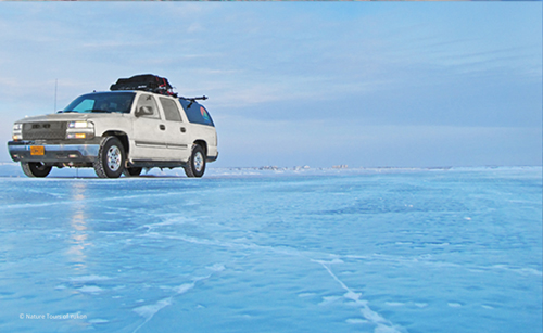 Canada's Yukon's winter safari - Ice Road in the Arctic